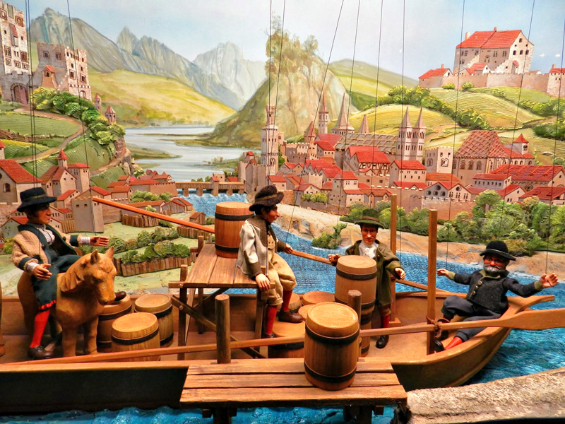 Exposição de bonecos e marionetes no Festung Hohensalzburg em Salzburg