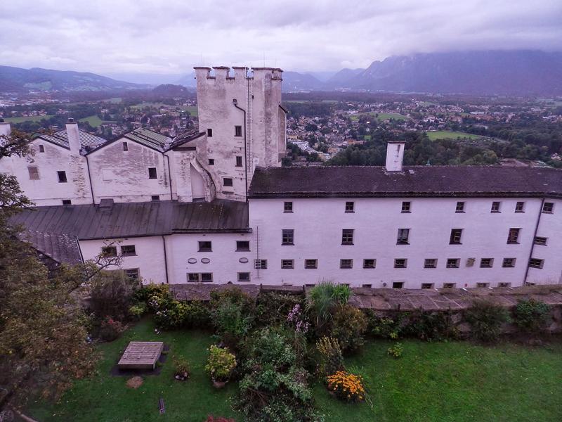 Vista de dentro do Festung Hohensalzburg em Salzburg