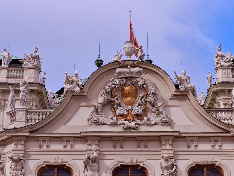 Castelo Belvedere ou Schloss Belvedere em Viena