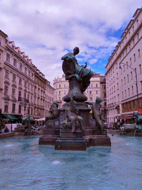 fonte Donnerbrunnen em Viena