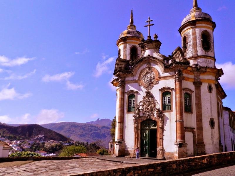 Igreja São Francisco de Assis em Ouro Preto em Minas Gerais