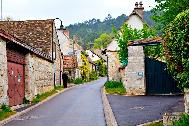 Giverny na Alta Normandia na França