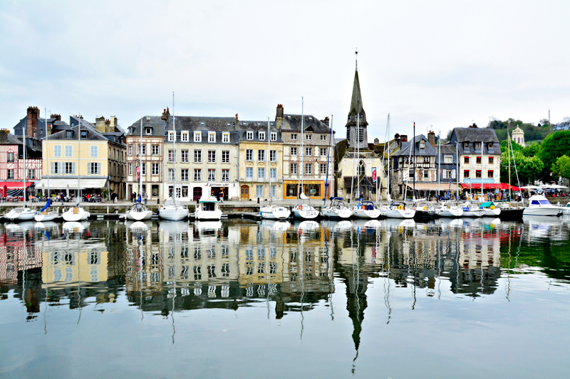 Honfleur na Baixa Normandia na França