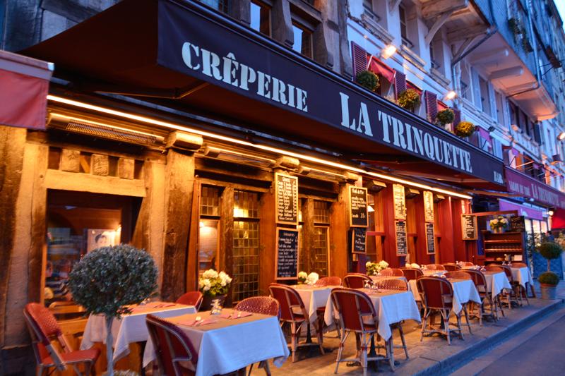 Restaurante em Honfleur na França