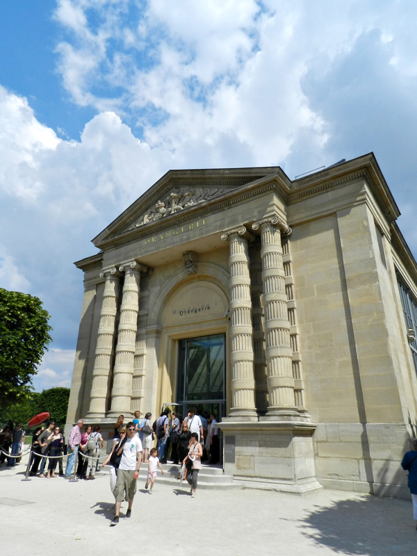 Entrada do Orangerie em Paris