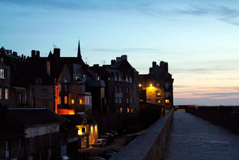 No muro de Saint Malo na Bretagne França ou Bretanha