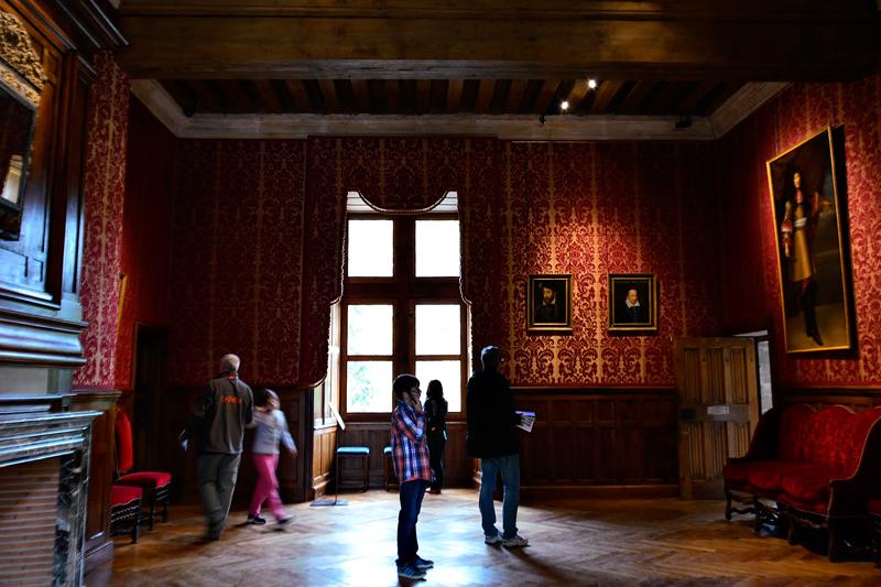 interior do Château Azay le Rideau Viagem para PAYS DE LA LOIRE e CENTRE NA FRANÇA