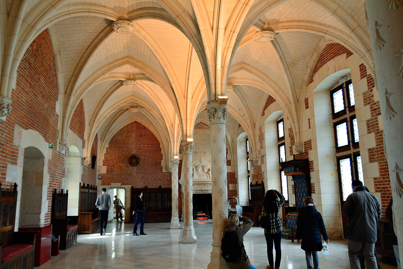 interior do Château d'Amboise Viagem para PAYS DE LA LOIRE e CENTRE NA FRANÇA