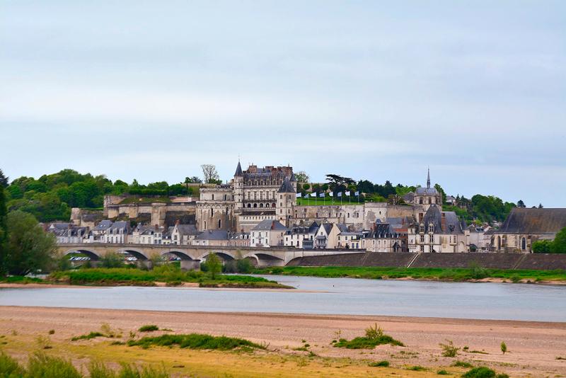 o rio loire e o Château d'Amboise Viagem para PAYS DE LA LOIRE e CENTRE NA FRANÇA