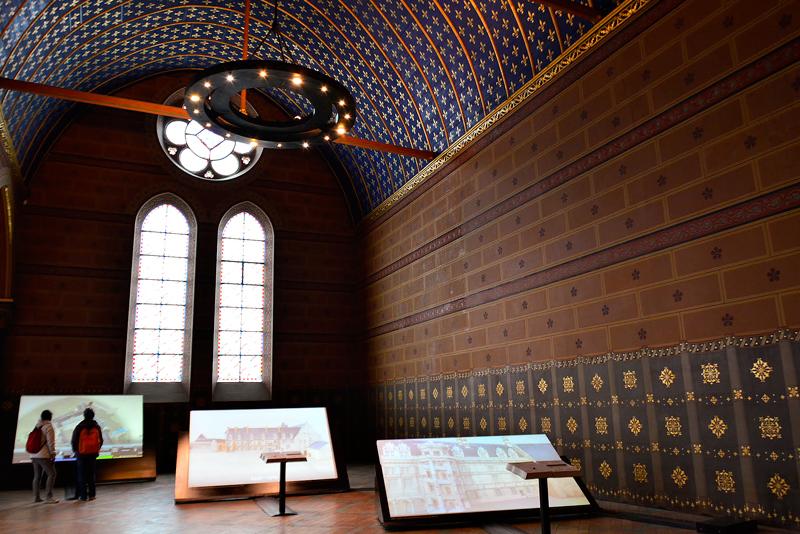 dentro do Château de Blois em Centre na França