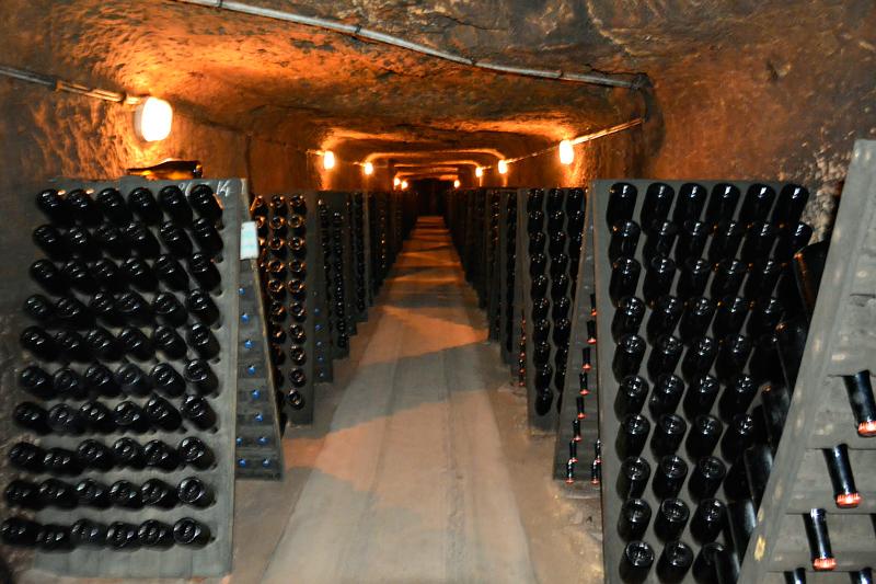 cave da Domaine Hüet na França