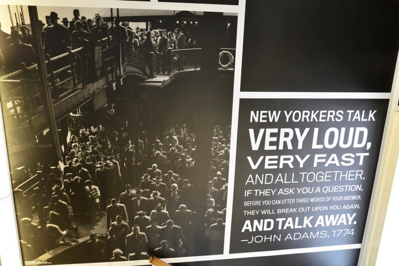 "Foto do Museum of the New York City ""explicando"" o New Yorker"