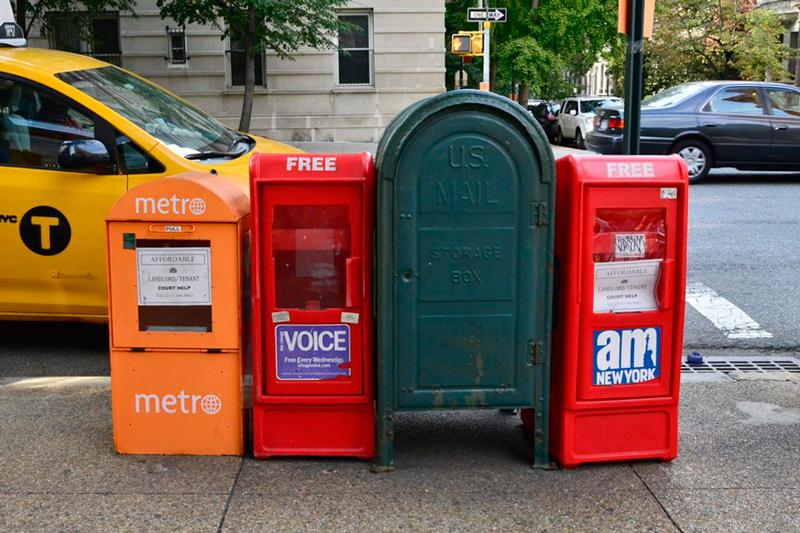 Caixas de correios de New York