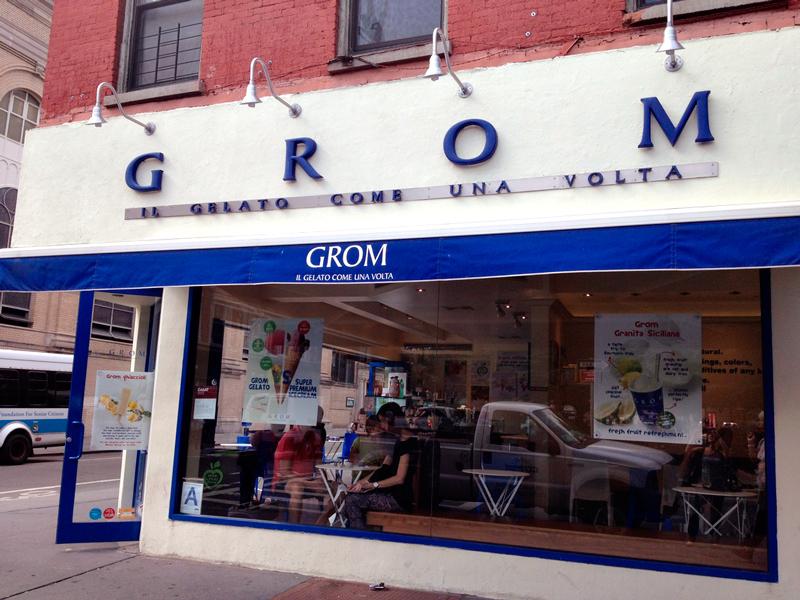 Grom gelateria em New York
