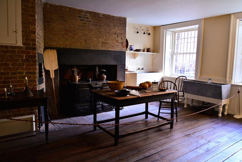 cozinha da Merchant's House Museum em New York
