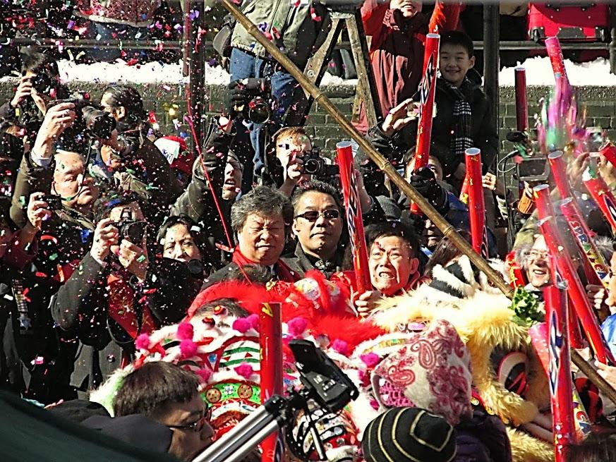 Celebração do Ano Novo Chinês na Chinatown de New York