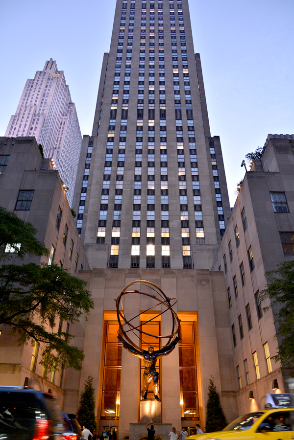 Rockefeller Center: top of the rock, New York