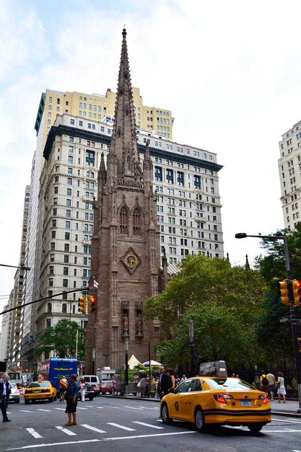 fachada da Trinity Church em New York