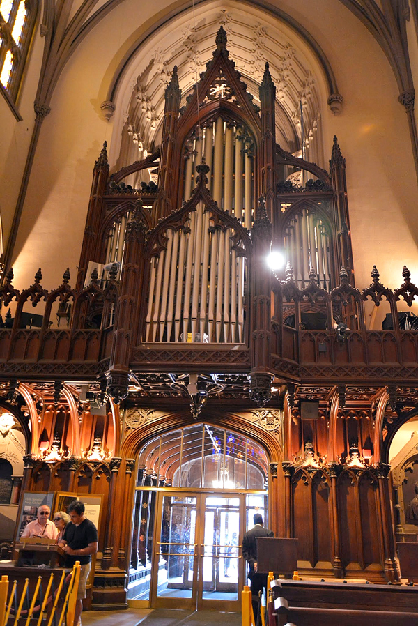 órgão da Trinity Church em New York
