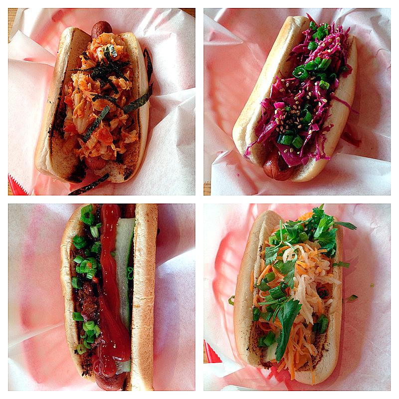 hot dogs do Asia Dog de New York, USA