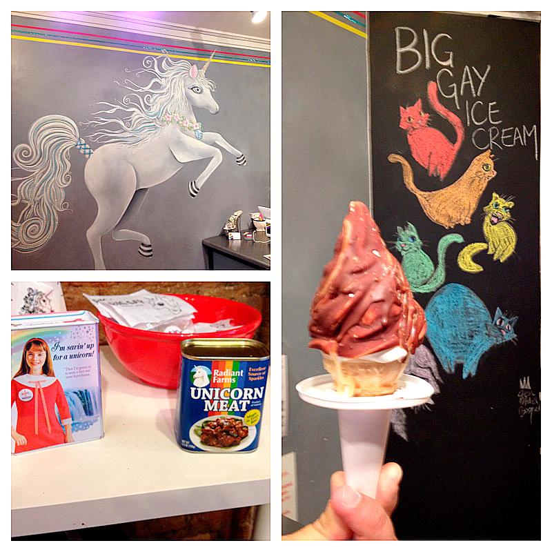 Detalhes do Big Gay ICe Cream de New York, USA