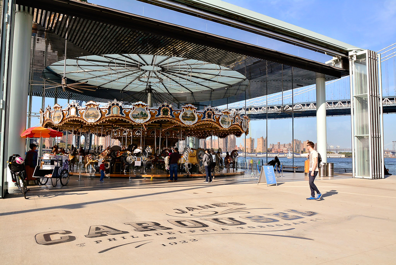 Jane's Carousel no Brooklyn Heights em New York