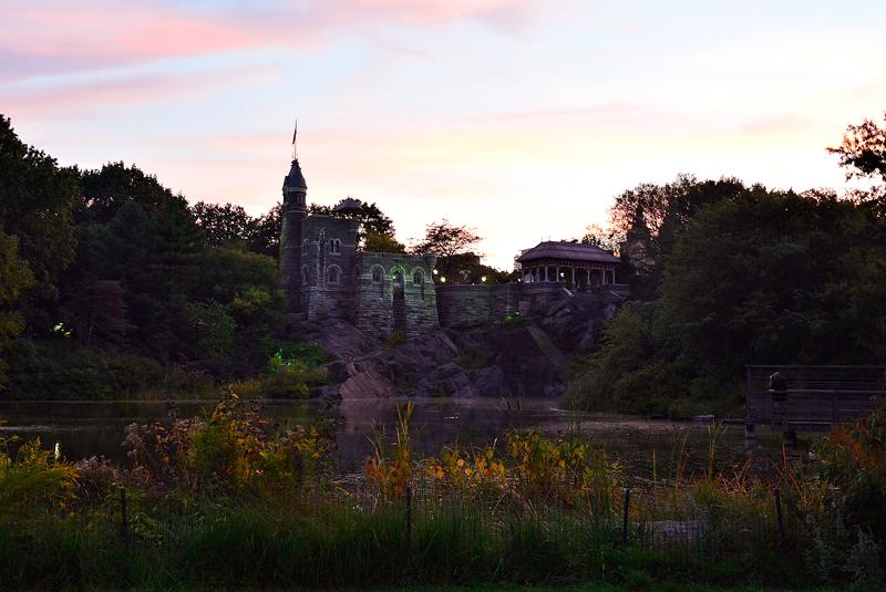 Belvedere Castle no central park em new york começo do outono