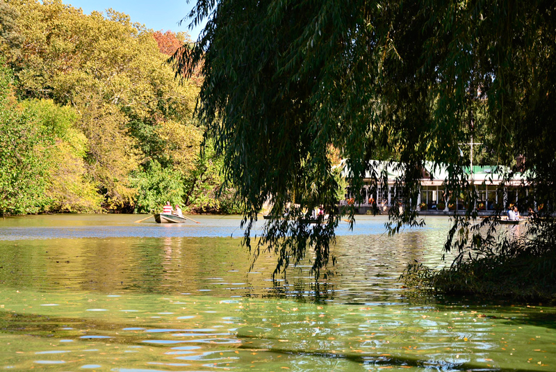 barquinhos no The Lake no central park de New York