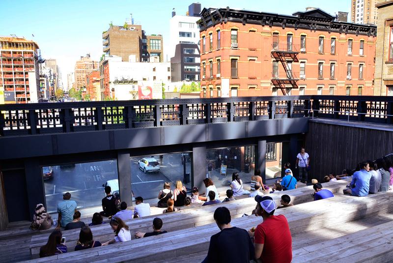 Escadaria do High Line em New York