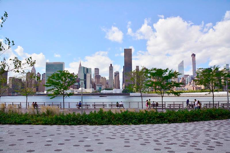 vista de manhattan a partir da Long Island City em new york