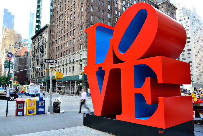 escultura love de new york