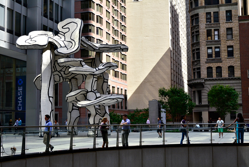escultura do finantial district de New York