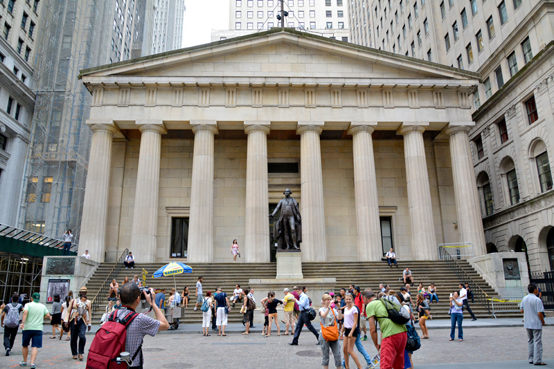 Wall Street na Financial District de New York