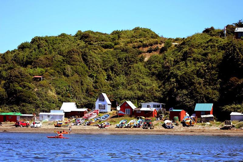 Monumento Natural Islotes de Puñihuil na region de los lagos no chile
