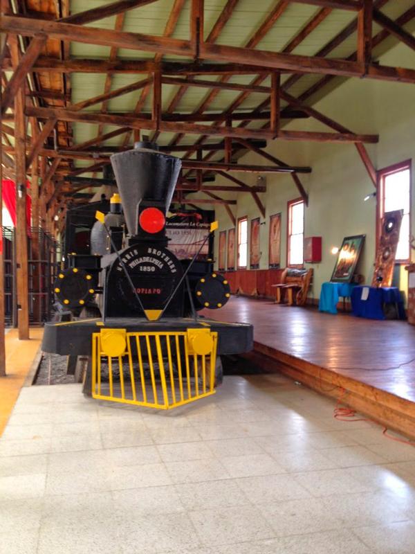 antiga estação de trem em Caldera no Chile