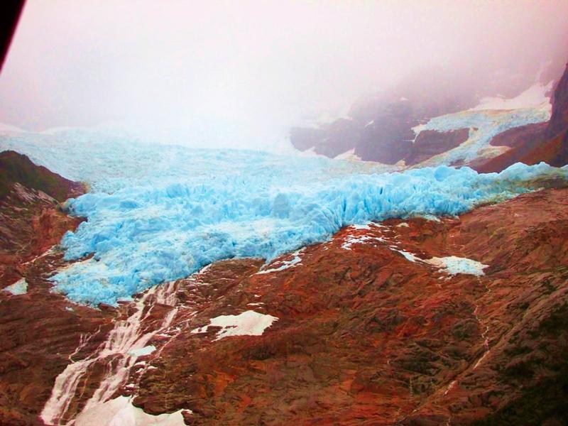 Glaciar Balmaceda no Campo de Hielo Sur no Parque Nacional Bernardo O'Higgins no Chile