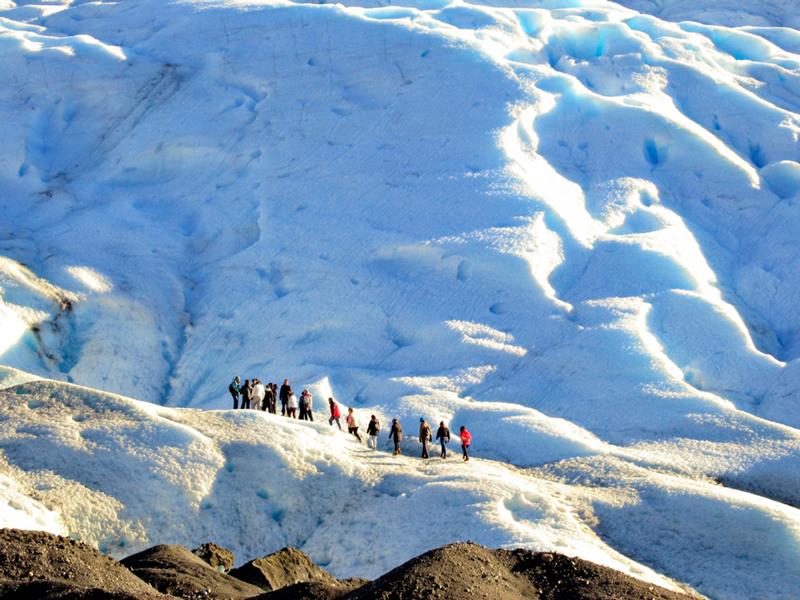 trekking no Glaciar Perito Moreno em El Calafate na Patagonia Argentina