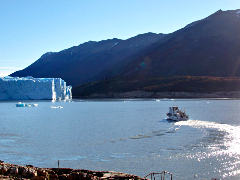 Glaciar Perito Moreno em El Calafate na Patagonia Argentina