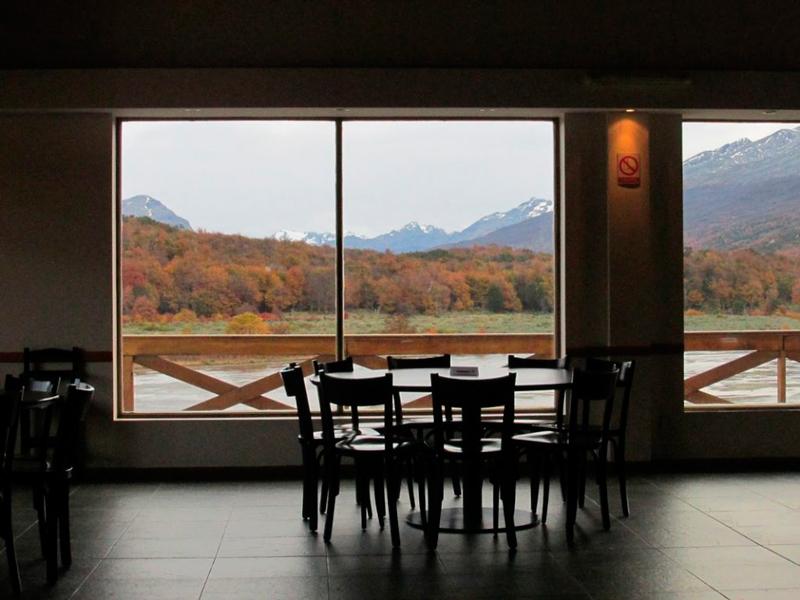 Vista a partir do restaurante no Parque Nacional Tierra del Fuego
