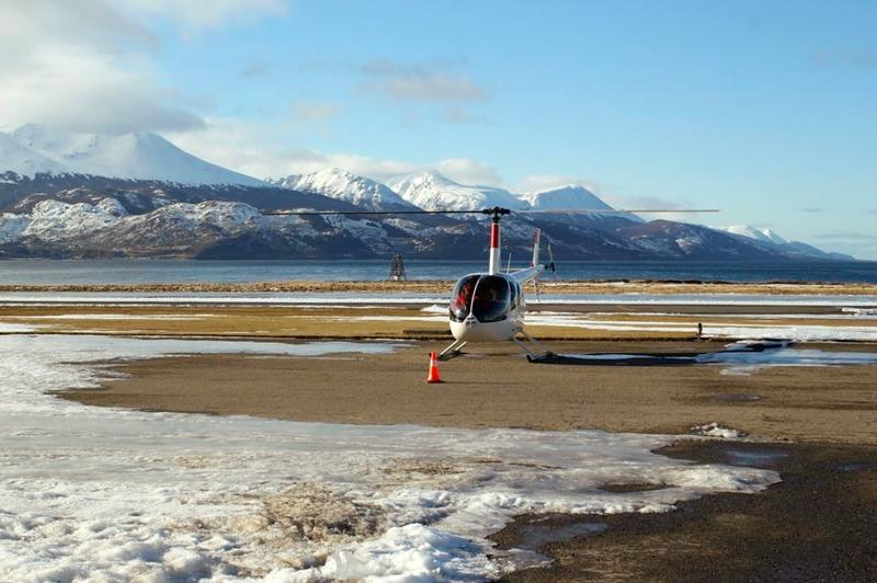 Passeio de helicoptero em Ushuaia na Argentina