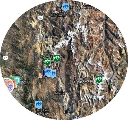 mapa farellones