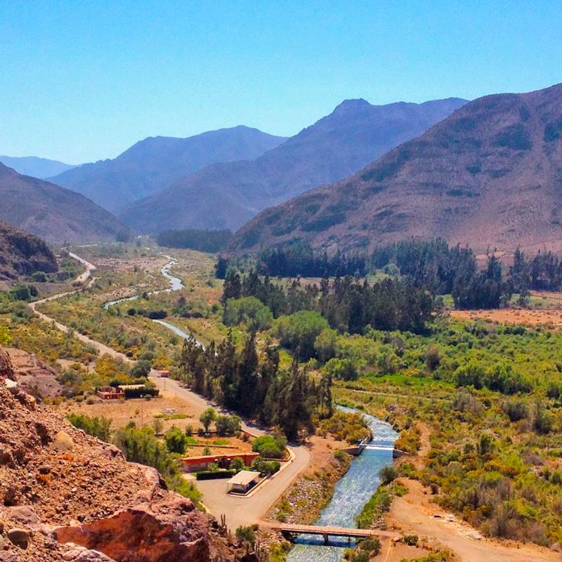 Mirador em Vicuña no Valle de Elqui no Chile