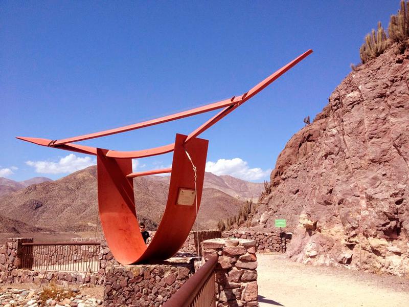 Instrumento tocado pelo vento em Vicuña no Chlle