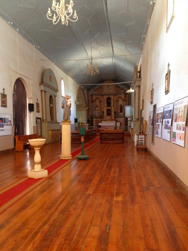 Igreja em Barraza no Valle Limari no Chile