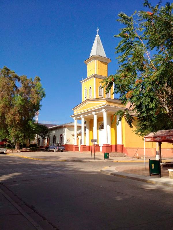 igreja no Valle Limari no Chile