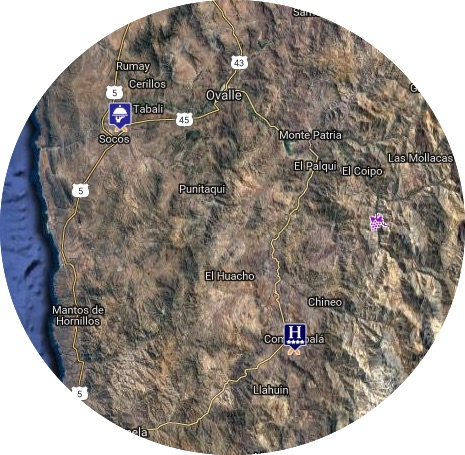 mapa valle limari