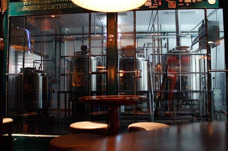 Pub da Cervejaria Container em Blumenau em Santa Catarina