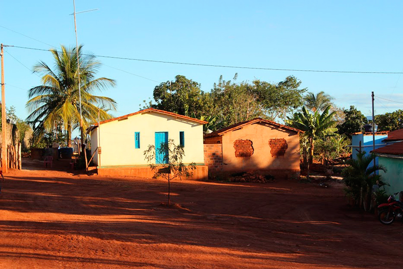 cidade do distrito de Itaetê na Bahia