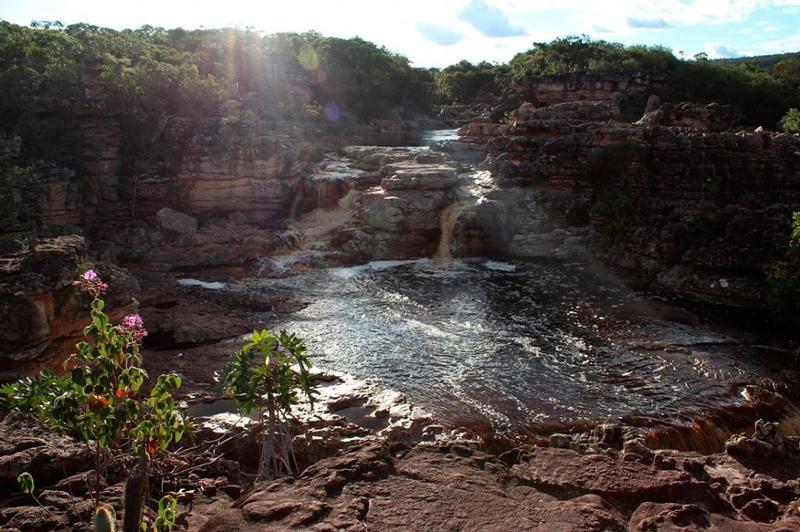 Mirante no canyon da Cachoeira do Buracão na Chapada Diamantina na Bahia