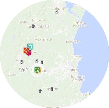 mapa blumenau